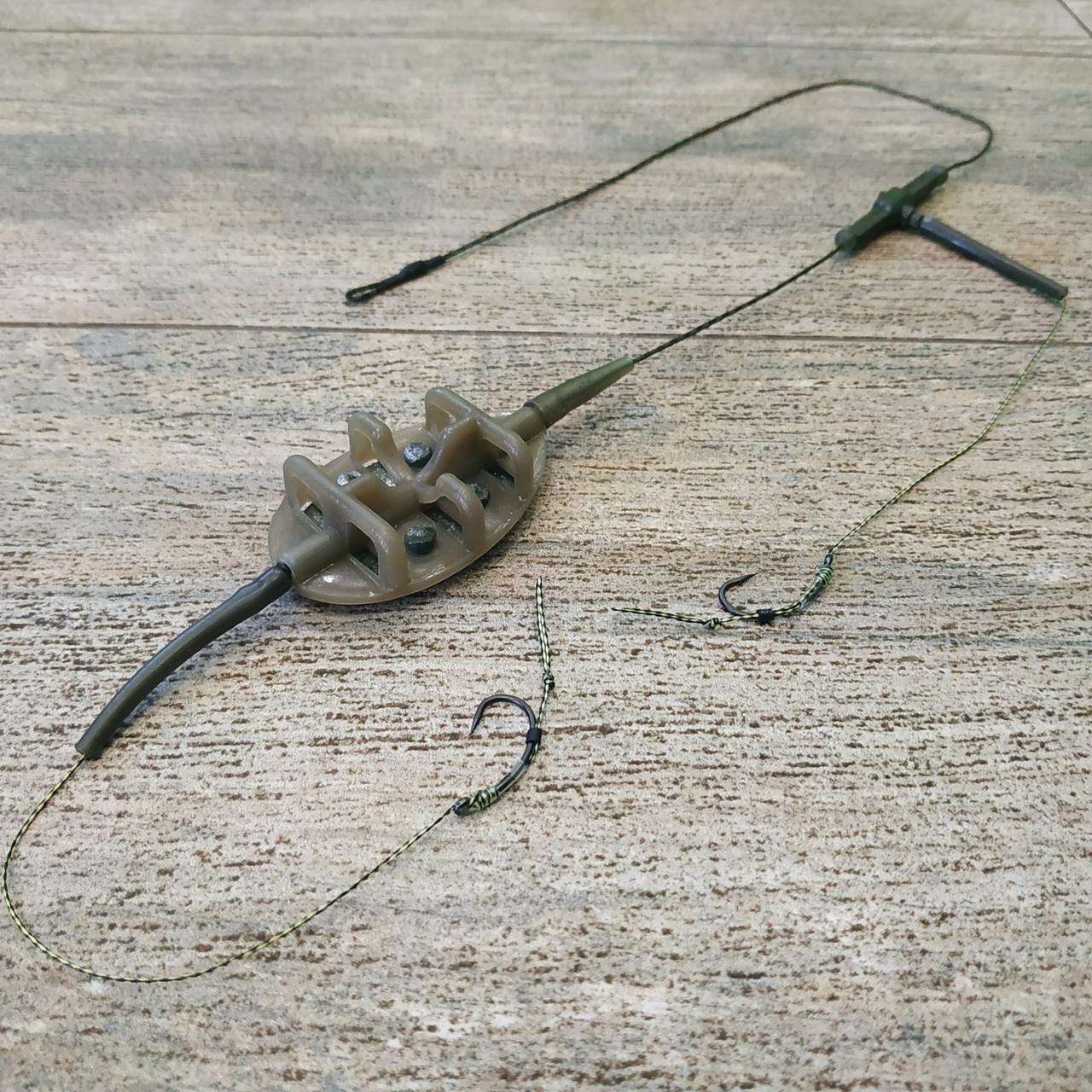 "Рыболовная кормушка на карпа в сборе ""Flat Feeder"" , вес 60 грамм"