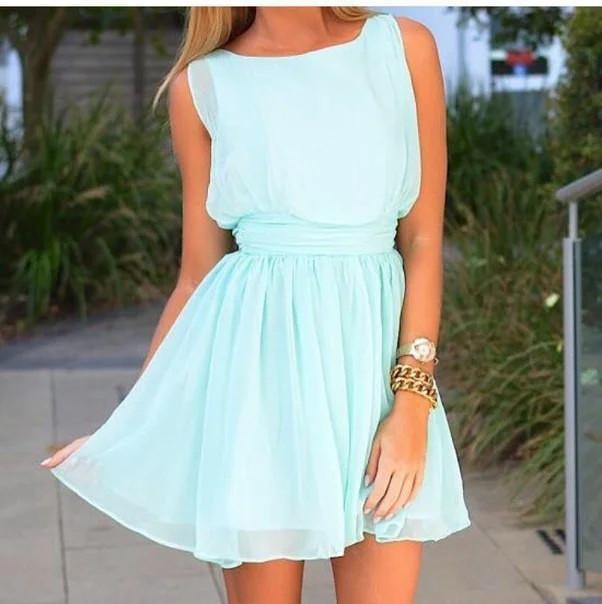 женское летнее шифоновое платье
