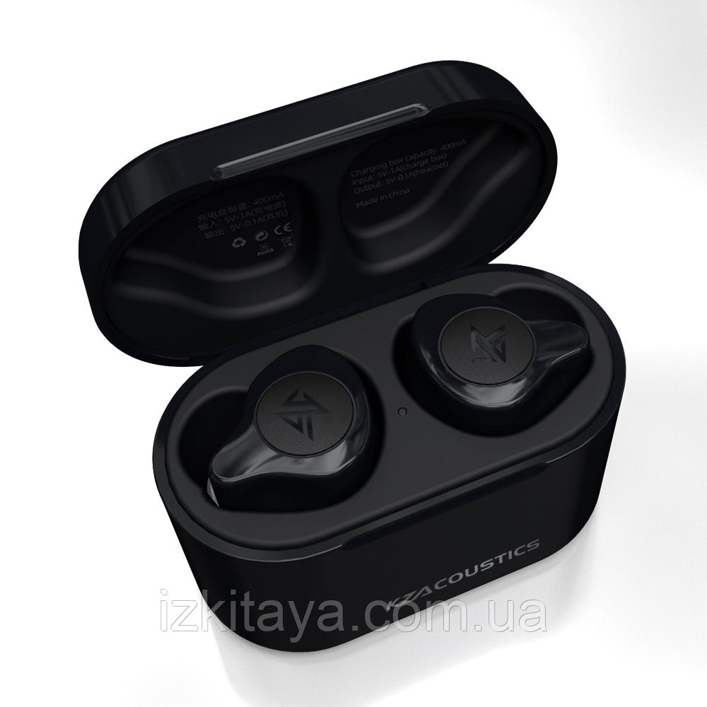 Наушники Bluetooth беспроводные KZ S2 TWS black наушники с блютузом