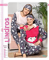 Пижама женская флисово-махровая с ночником