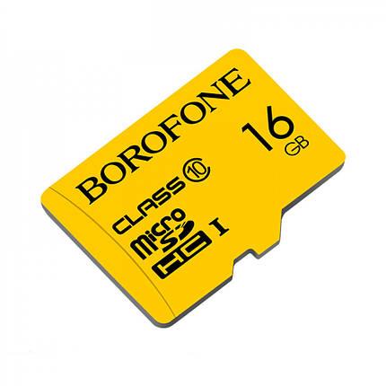 Карта пам'яті MicroSD Borofone 16GB Class 10 Original, фото 2