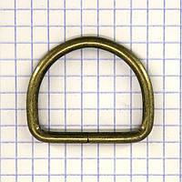 Полукольцо 30 мм антик для сумок a5613 (50 шт.)