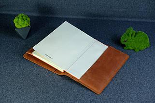 """Обложка с пеналом для ежедневника формата А5 """"Модель №16"""", Винтажная кожа, цвет Коньяк, фото 3"""