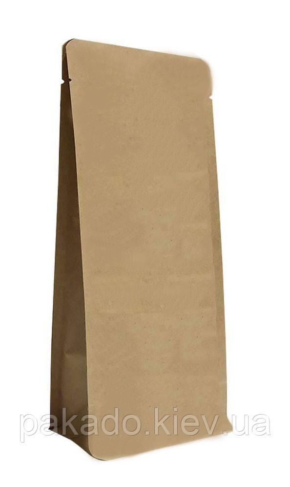 Пакет с плоским дном 145х340х90 (1кг) КРАФТ без замка