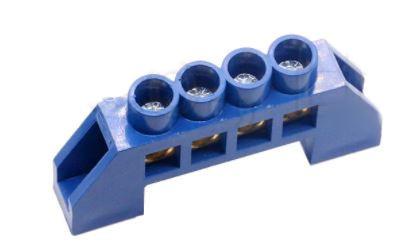 Шина нулевая в изоляторе  HC 6*9/4 синяя