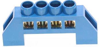 Шина нулевая в изоляторе  HC 6*9/4 синяя, фото 2