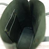 Сумка tote зеленый из натуральной кожи crazy horse, фото 9