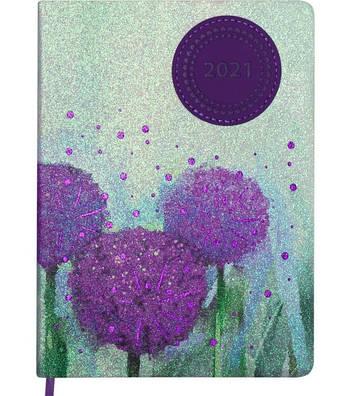Ежедневник датированный Buromax Cherie A5 на 336 страниц Фиолетовый(BM2182-07)