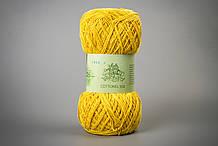 Пряжа хлопковая Vivchari Cottonel 550, Color No.1003 ярко-желтый