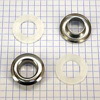 Люверс 12 мм никель t5037 (100 шт.)