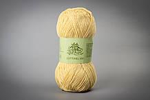 Пряжа хлопковая Vivchari Cottonel 550, Color No.1004 бледно-желтый