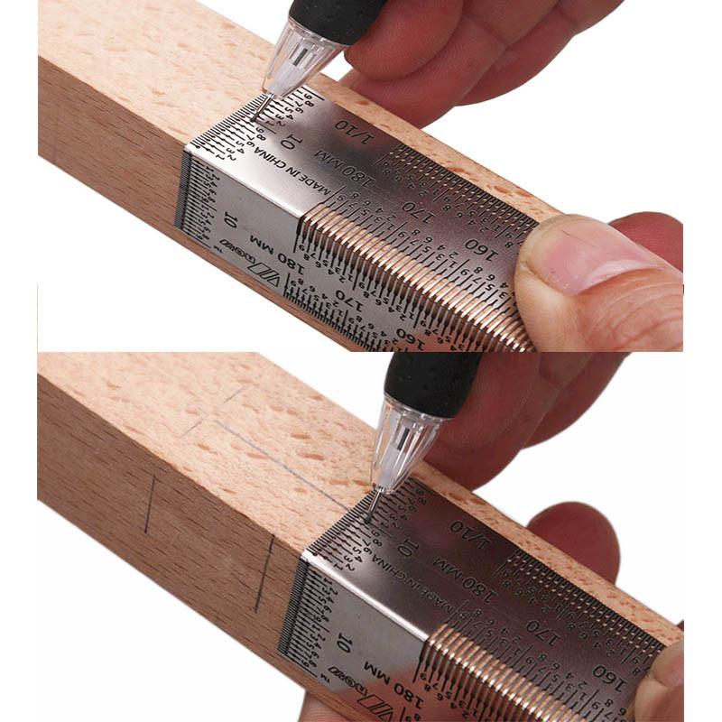 Лінійка вимірювальна деревообробна  Г-образного типу 180 мм