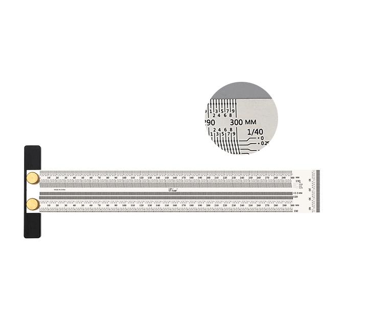 Лінійка вимірювальна деревообробна 300 мм
