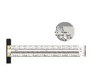 Лінійка вимірювальна деревообробна 300 мм, фото 1
