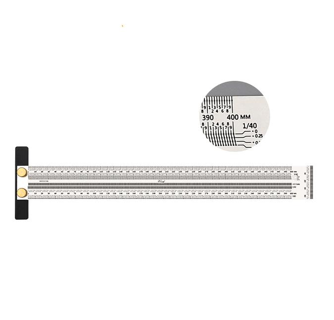 Лінійка вимірювальна деревообробна 400 мм