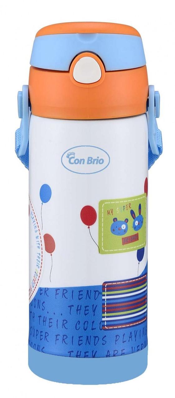 Вакуумный термос из нержавеющей стали Con Brio СВ-391 (350 мл)   термочашка Con Brio   термос 0,35 л голубой