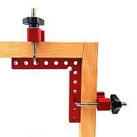 Кутник лінійка 90 градусів з допоміжним кріпленням 110x110 мм, фото 1
