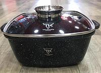 Кастрюля Top Kitchen ТК00055 с крышкой мраморное покрытие 24 см 4.5 л черный