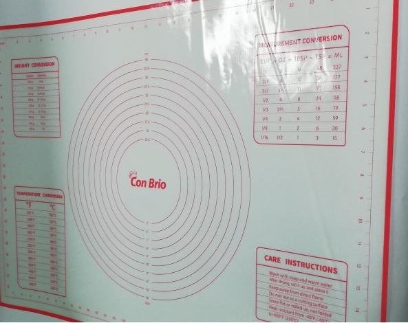 Силиконовый коврик для выпечки Con Brio CB-677 | коврик кондитерский Con Brio | коврик для теста красный