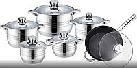 Набор кухонной посуды Top Kitchen ТК00010 из 12 пр. с антипригарным покрытием + набор ножей 6 пр., фото 1