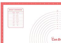 Силиконовый коврик для выпечки Con Brio CB-679 | коврик кондитерский Con Brio | коврик для теста кораловый