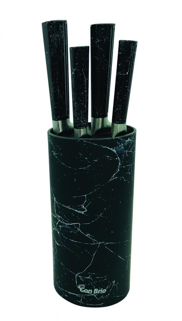 Набор ножей с подставкой Con Brio СВ-7070 4 ножа | Ножи кухонные универсальный набор