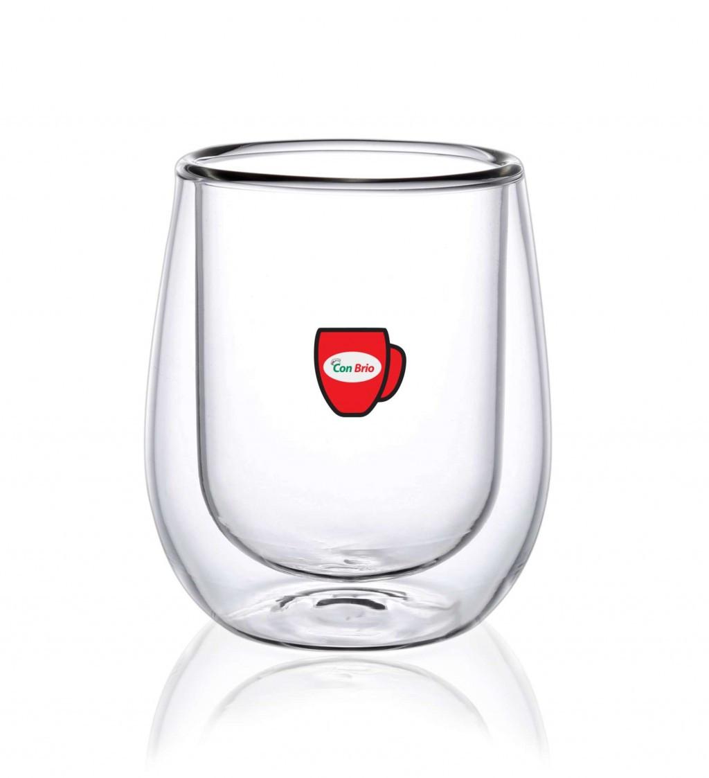 Набор стаканов с двойными стенками Con Brio CB-8720 6 шт | стеклянные стаканы Con Brio