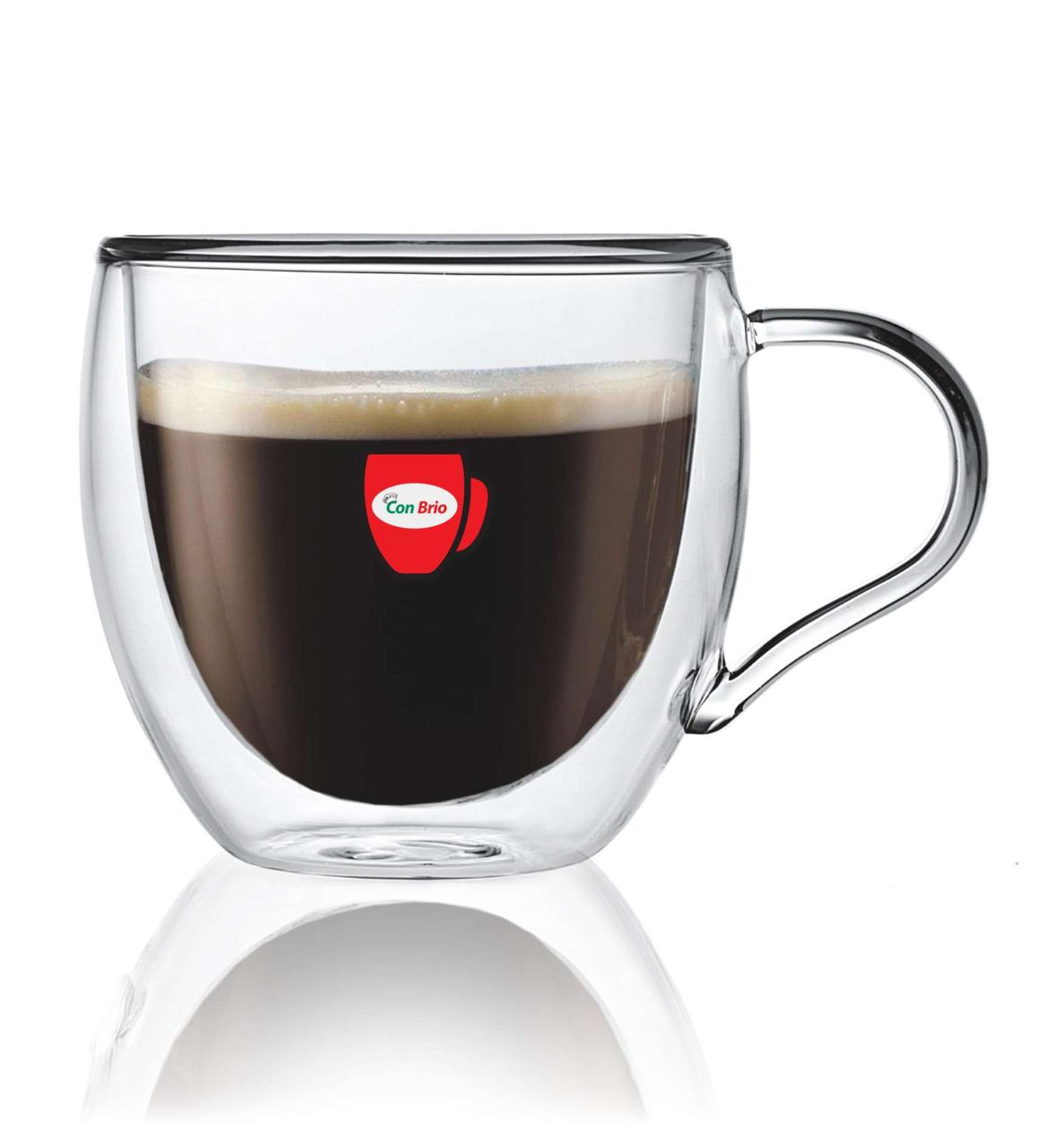 Набор чашек с двойными стенками Con Brio CB-8625 6 шт | стеклянные стаканы Con Brio