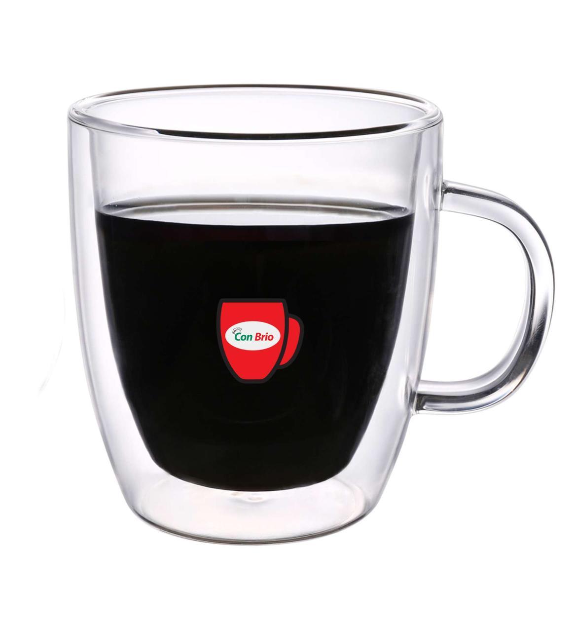 Набор чашек с двойными стенками Con Brio CB-8435 6 шт | стеклянные стаканы Con Brio