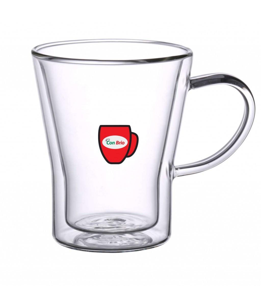 Набор чашек с двойными стенками Con Brio CB-8535 6 шт | стеклянные стаканы Con Brio