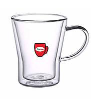Набор чашек с двойными стенками Con Brio CB-8535 6 шт | стеклянные стаканы Con Brio, фото 1