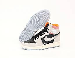 Высокие кроссовки Nike Air Jordan 1 High SP 19 серого цвета (баскетбольные кроссовки Найк Аир Джордан)