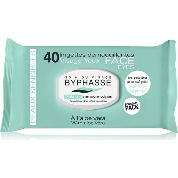 Byphasse Make-up Remover Wipes Aloe Vera Sensitive Skin Салфетки очищающие салфетки 40 шт.