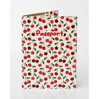 Обкладинка для паспорта Вишеньки, фото 1