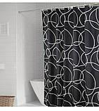 Черно-белая шторка для ванной Black & white, фото 4