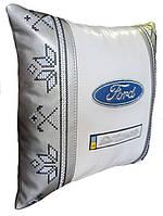 Сувенирная подушка автомобильная с вышивкой Ford форд, фото 1