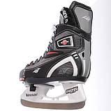 Коньки раздвижные детские хоккейные PVC TG-KH901R р 32-35,, фото 2