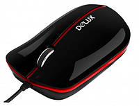 Компьютерная мышь Delux DLM-390, USB black/red