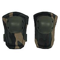 Комплект защиты тактические наколенники и налокотники PA-11 однотонные цвет олива