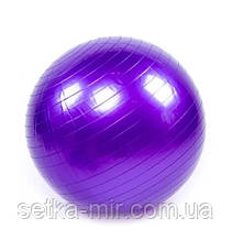 Мяч фитнес 55 см, глянец, King Lion +насос, цвета в ассортименте Фиолетовый