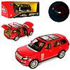 Машинка  металлическая, инерционная  Range Rover (Красная) 18 СМ