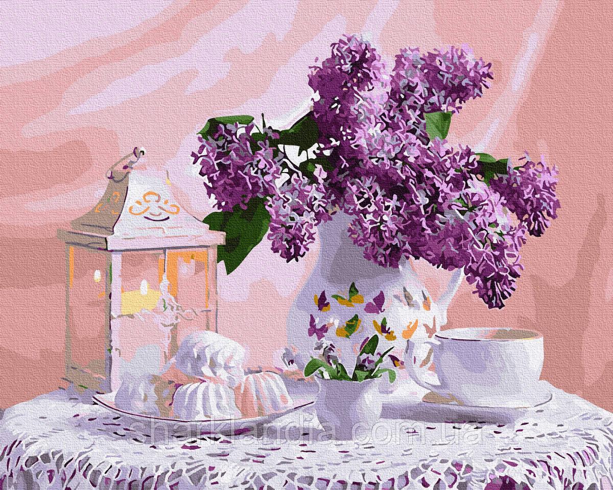 Картина за номерами Бузкове чаювання 40х50см RainbowArt