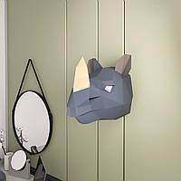 3D пазл из бумаги Носорог