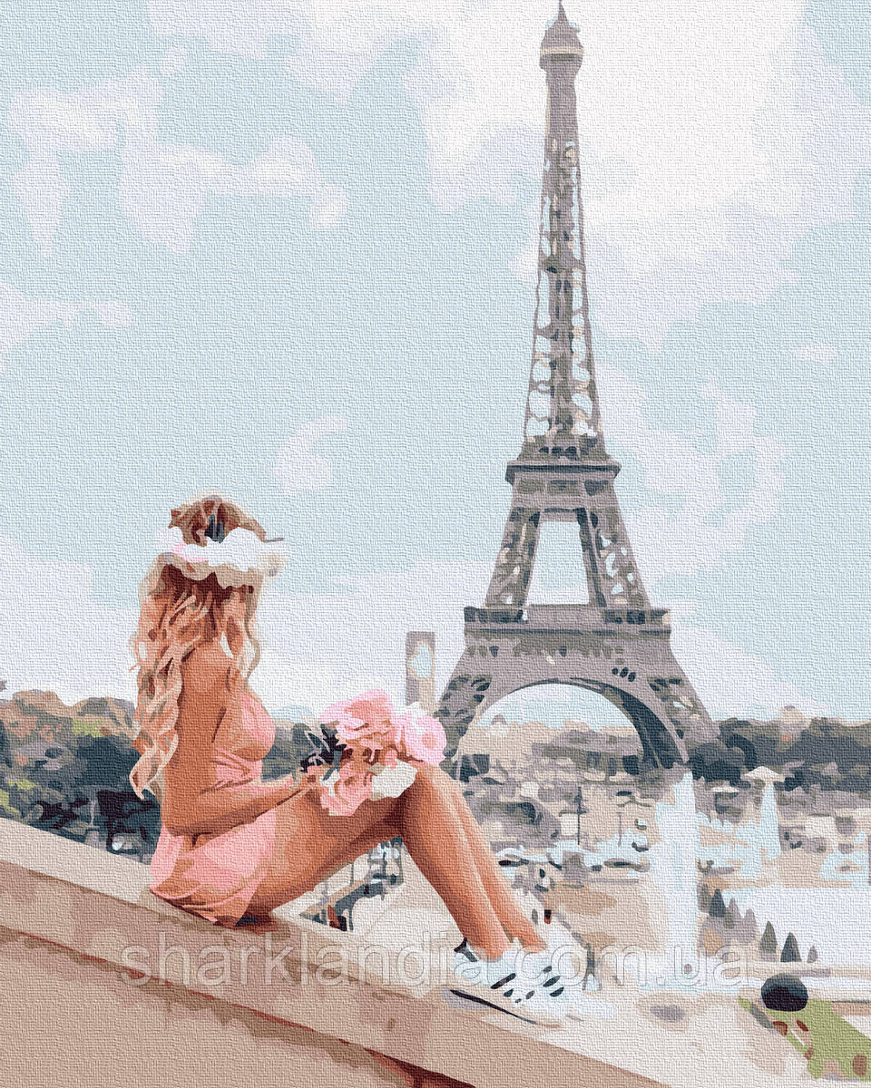 Картина по номерам Жаркий парижский день 40х50см RainbowArt Париж