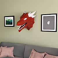 3D пазл из бумаги Огнедышащий Дракон
