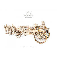 Королевская карета (290 деталей) - механический 3д пазл, фото 1