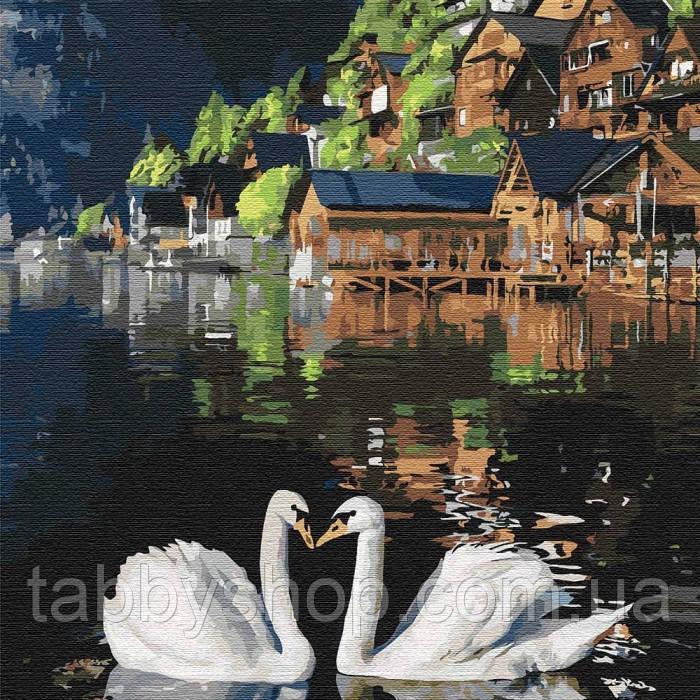 Картина по номерам Идейка - Волшебные лебеди