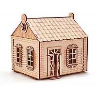 Деревенский домик (197 деталей) - механический 3д пазл, фото 1