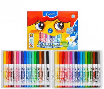 Фломастери 36 кольорів Super Washable ТМ MARCO 1630-36СВ