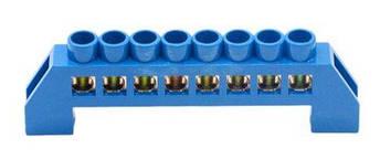 Шина нулевая в изоляторе синяя HC 6 * 9/8, фото 2